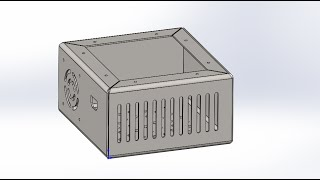 Solidworks. Создние коробки для блока питания(Создание гнутой коробки из листового металла. Файл детали по ссылке: http://1drv.ms/1Lny8ur #Solidworks 2013 Sheet metal design Solidworks..., 2015-02-21T16:28:09.000Z)