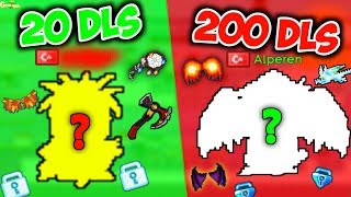20 Dls Vs. 200 Dls Set Challenge With a Fan ( Alperen Axe )  GrowTopia