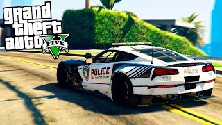GTA 5 Моды: полицейский суперкар - corvettе