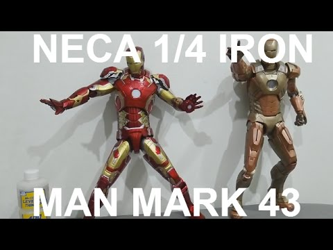 Marvel Neca Iron Man 3 Mark 42 1:4 Scale Action Figure