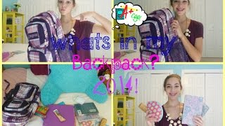Whats in my Backpack? 2014! Thumbnail