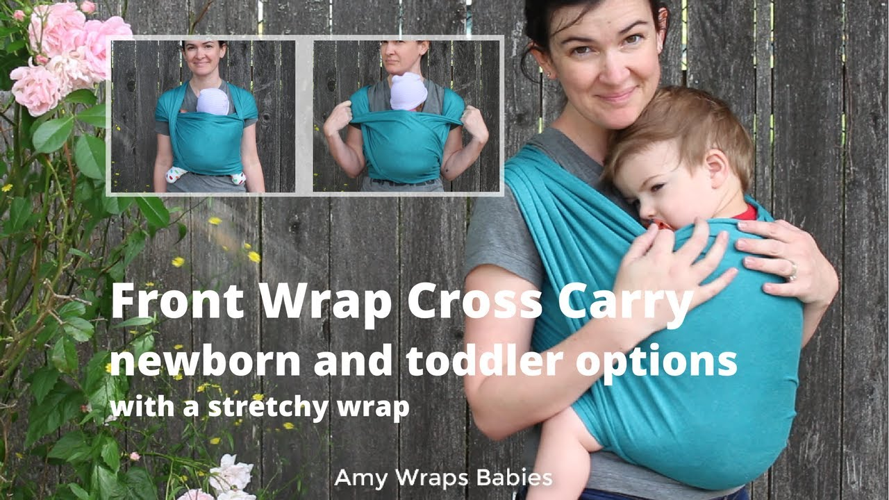 What Else Can A Stretchy Wrap Do Front Wrap Cross Carry Toddler And Newborn In A Moby Wrap