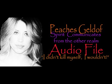 Amazing Communication Just Now With Peaches Geldof ~ Karen