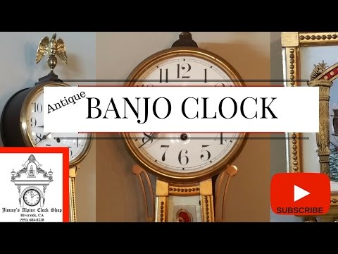 ANTIQUE BANJO CLOCK I HOME DECOR c.1880