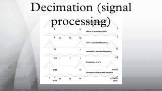 Decimation (signal processing)