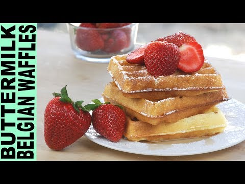 GLUTEN FREE WAFFLES!! How to Make Buttermilk Belgian Waffles Light and So Delicious