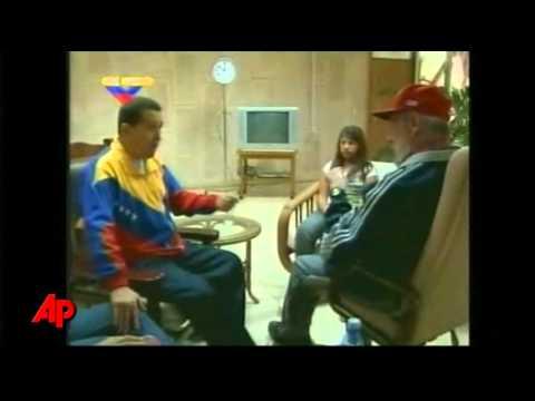 Raw Video: Chavez of Venezuela Meets Castro