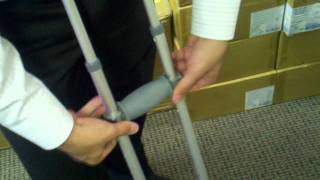 Knock Down Universal Aluminum Crutches - One Size Fits All