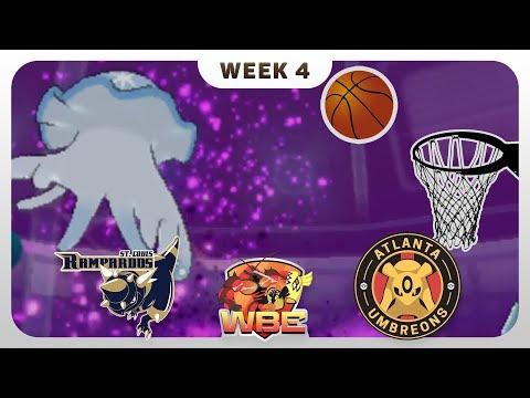 BUZZER BEATER?! | St. Louis Rampardos VS Atlanta Umbreons WBE W4  | Pokemon Sun Moon