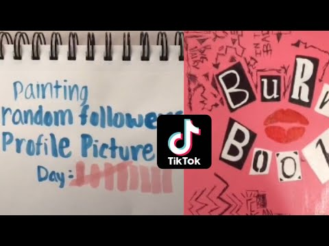 People painting things on tiktok part one!