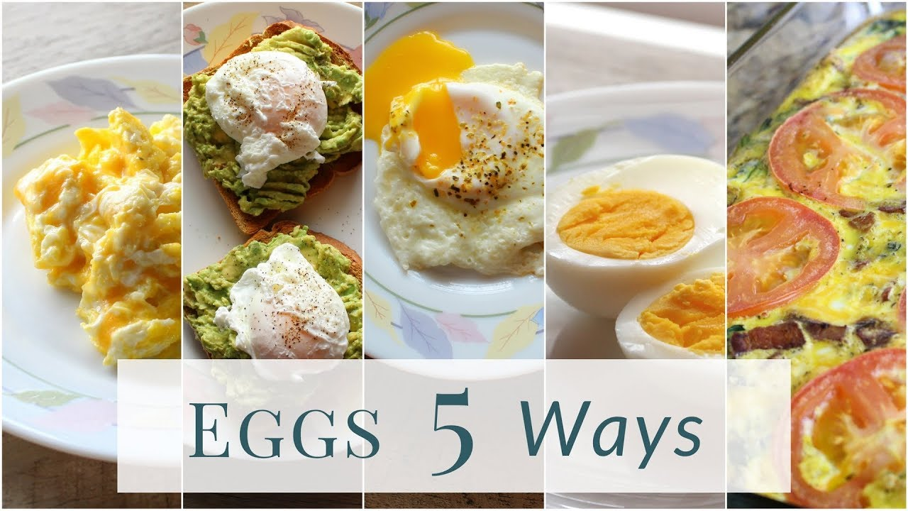 How to Cook Eggs - 5 ways! - YouTube