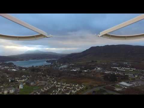 Portree from 400ft altitude