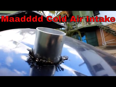 I made a cold air intake on my commodore (budget burnout car)