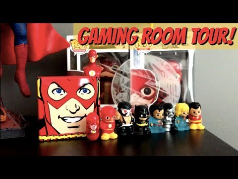 HoneyBee's Gaming Room Tour! EVO Stick, Injustice Poster, Medals & More!