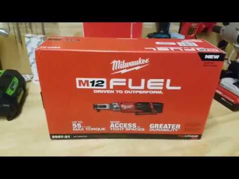 Milwaukee M12 Fuel Brushless Ratchet 2557-20 Unboxing , Saturday Night Shop Talk