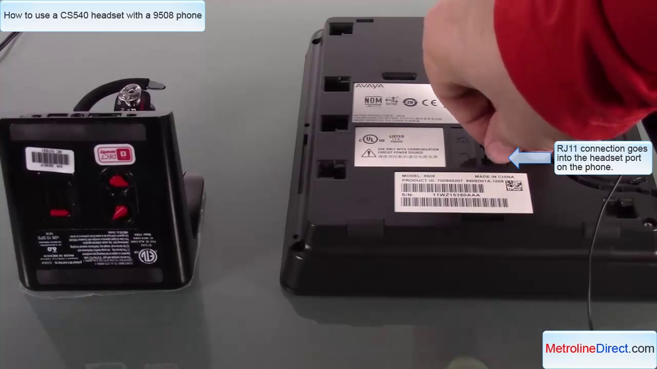 25f282c156f Avaya 9508 with CS540 Headset - How to install - YouTube