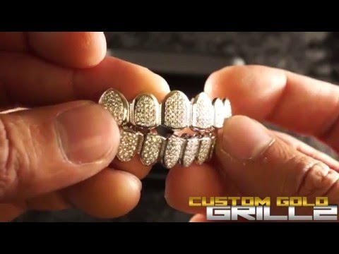 .925 Sterling Silver CZ Premium Grills by Custom Gold Grillz