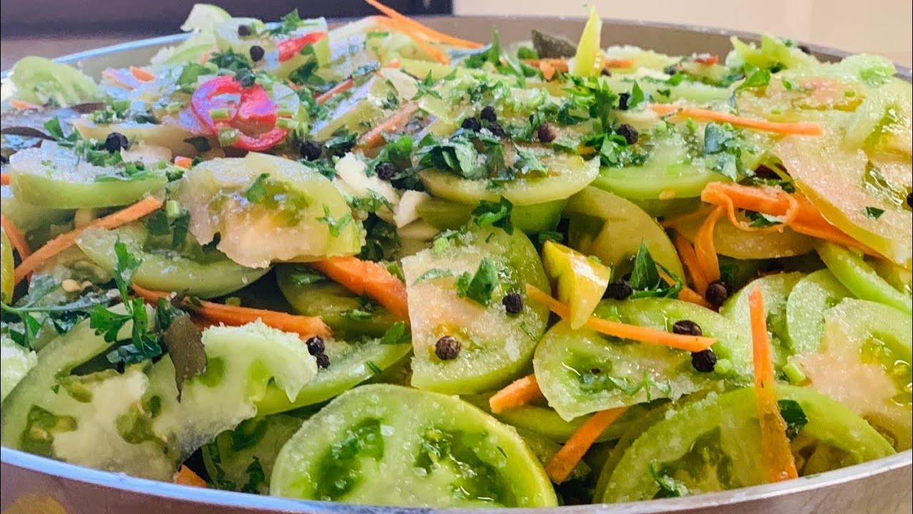 Туршия Пикули - бърза лесна есенна салата, със зелени домати и много други зеленчуци! Много вкусна!
