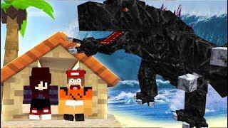 Minecraft: DESAFIO DA BASE 100% SEGURA CONTRA TSUNAMI COM GODZILLA! A CIDADE FOI DESTRUÍDA?