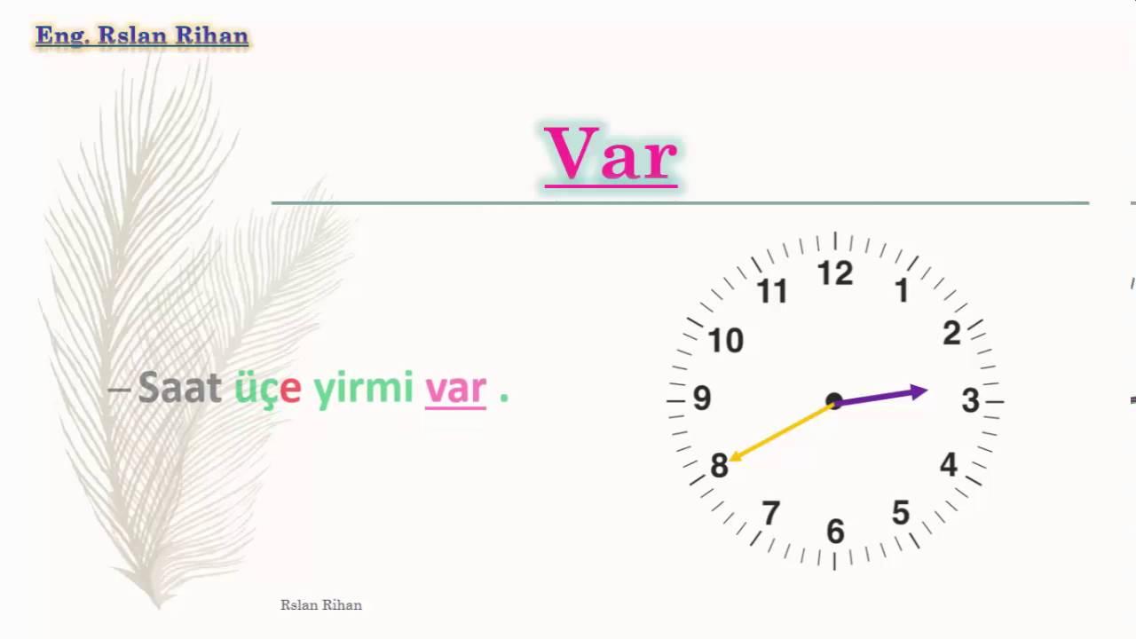 تعلم اللغة التركية (الدرس 16 من المستوى الأول A1) (الساعة)