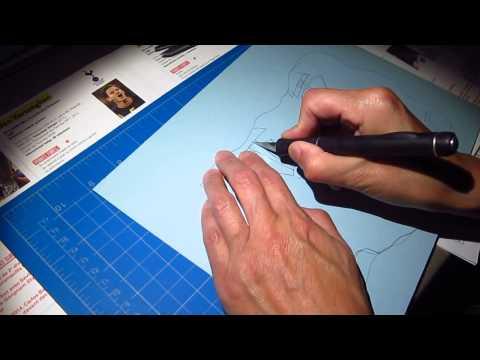 Paper cut shadow box ASMR