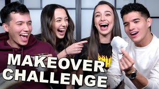 Make Over Challenge w/ Alex Wassabi and Aaron Burriss - Merrell Twins