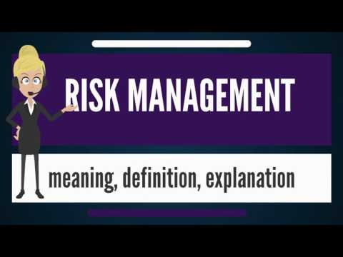 What is RISK MANAGEMENT? What does RISK MANAGEMENT mean? RISK MANAGEMENT meaning & explanation