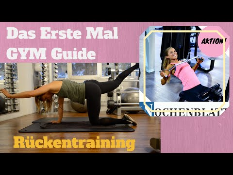 Das erste Mal im Gym| Rückentraining und Wochenblatt Aktion