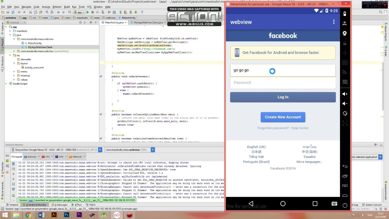 Rainbow code : Webview android studio Full