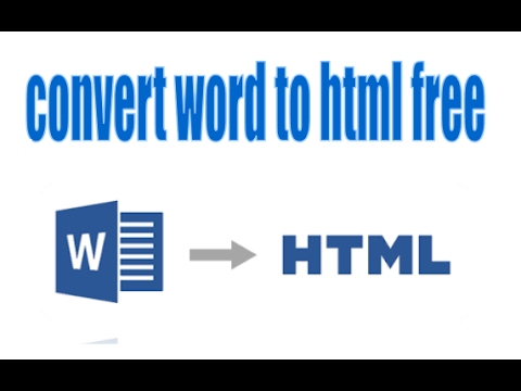 How To Convert Word To Html