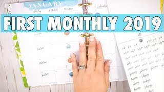 JANUARY 2019 CLASSIC HAPPY PLANNER SETUP | MONTHLY PLAN WITH ME | LIFE PLANNER + HOME PLANNER