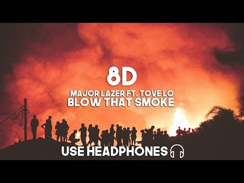 Major Lazer ft. Tove Lo - Blow that Smoke (8D Audio)
