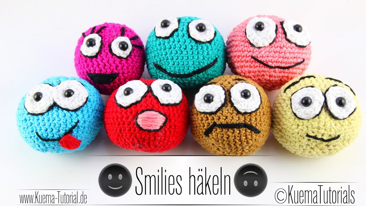 h keln lernen amigurumi ball smilies anf nger youtube. Black Bedroom Furniture Sets. Home Design Ideas