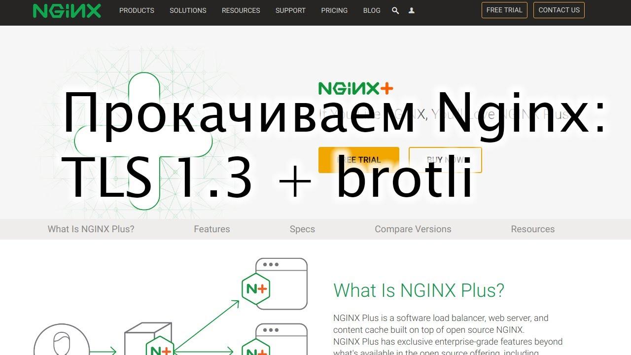 Прокачиваем Nginx: TLS 1.3 + brotli