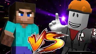 MINECRAFT VS ROBLOX (STEVE VS BUILDERMAN) - VIDEO GAME RAP BATTLES