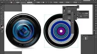 Tutorial Illustrator - Vectorizar lente de cámara 1/3
