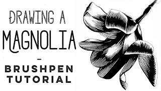 How to draw with a Brush pen - Magnolia inking tutorial