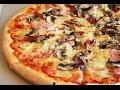 Вкусная пицца с грибами и колбасой на скорую руку