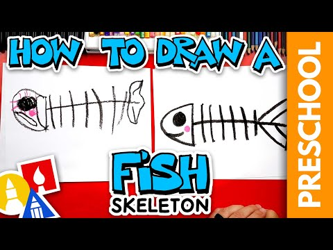 How To Draw A Spooky Fish Skeleton For Halloween - Preschool