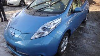 Nissan leaf ZE0 с Японии! Потеря запаса хода из-за включенной печки.