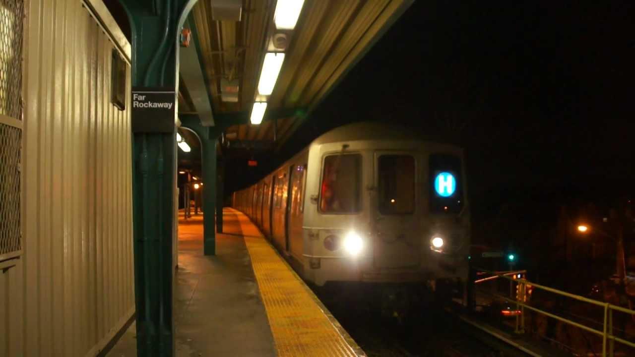 mta new york city subway h shuttle action mott avenue far