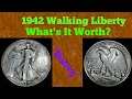 1942 Walking Liberty. what's it worth? great video!! coin roll hunting!!
