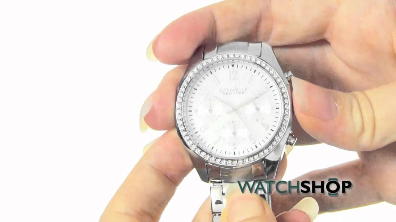 3f6aecaa5 Caravelle New York Ladies' Melissa Chronograph Watch (43L159) - YouTube