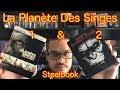 Steelbook Planète des singes les origines et l'affrontement FR et IT