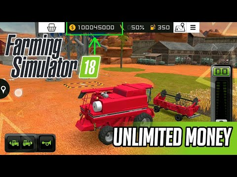 Farming Simulator 18 Mod(Unlimited Money)||APK+OBB||Free Download
