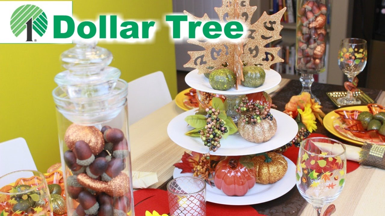 Thanksgiving Dinner Table Dollar Tree Youtube