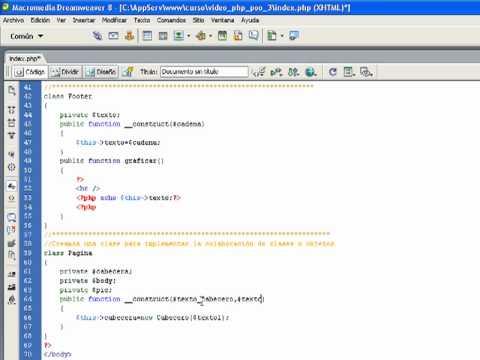 VideoTutorial 3 del Curso de PHP POO