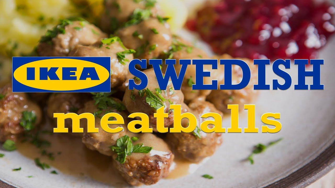 Homemade IKEA Swedish Meatballs in 30 seconds - YouTube