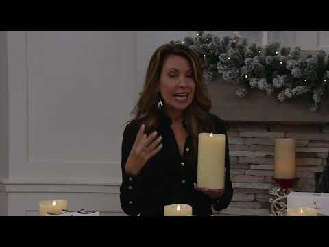 """Luminara 7"""" Flameless Candle with Choice of Scent Cartridge on QVC"""