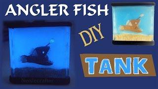 DIY MINIATURE FISH TANK Polymer Clay & Resin Tutorial Angler Fish How to make a fish tank  aquarium